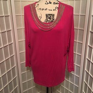 Michael Kors Pink Tunic Size Large